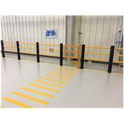 迈客人行护栏系统/车间仓储防撞护栏方案