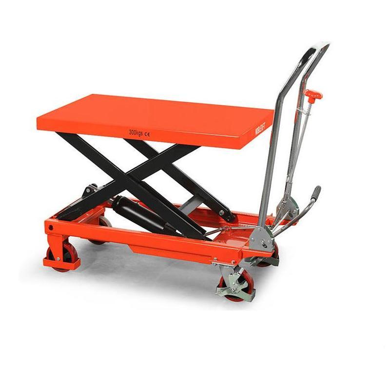 诺力Noblift 手动剪叉式液压平台车 升降车 TFD350 1.3/1.5米