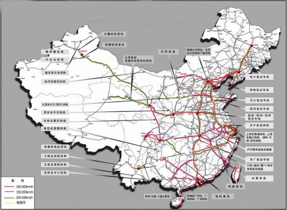 高铁规划是尽快拉通北京到所有省会的高铁路线(除了乌鲁木齐和拉萨,都