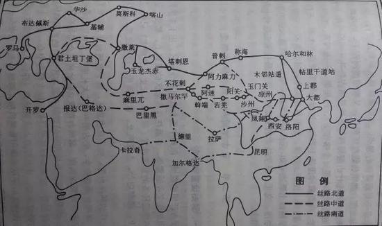 一带一路陆路地图