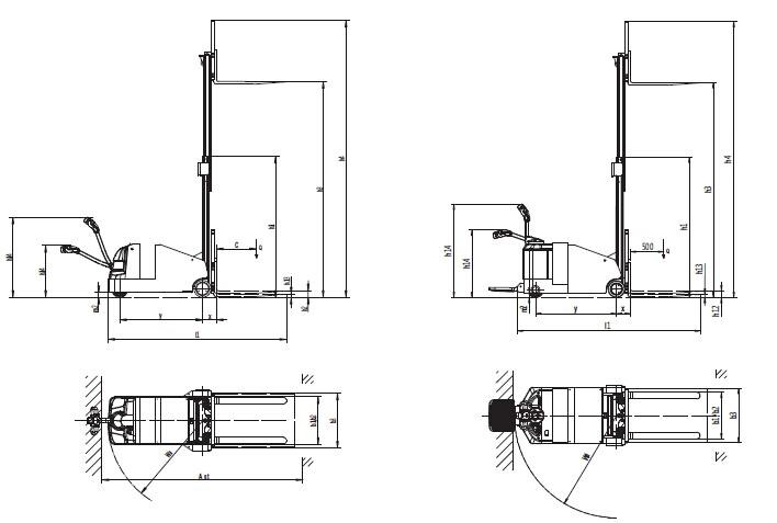 手摇堆高车油缸结构图
