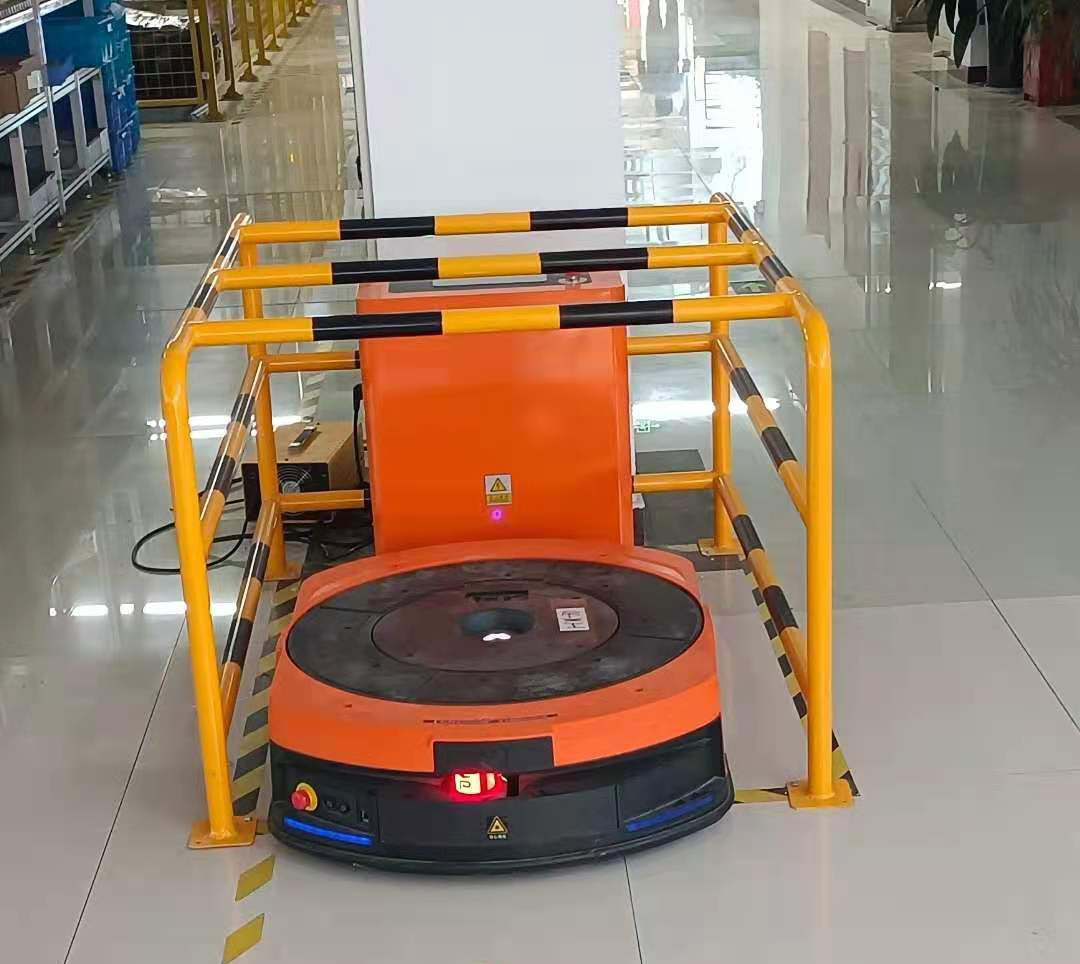 【案例】汉威科技柔性智能工厂项目,不同车型混合调度实现多环节无人化搬运