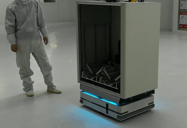 迦智AGV智能物流系统助力半导体制造工厂物流高度智能化