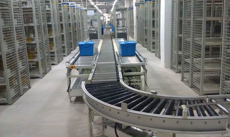 为九州通医药集团提供仓储输送分拣系统项目